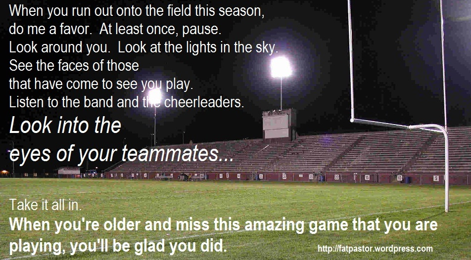 Dear high school football player