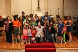 "Our Riverside UMC ""Godspell"" cast"