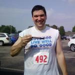 At the Railroad Days 5K, I placed second in my age group with a time of 26:28.