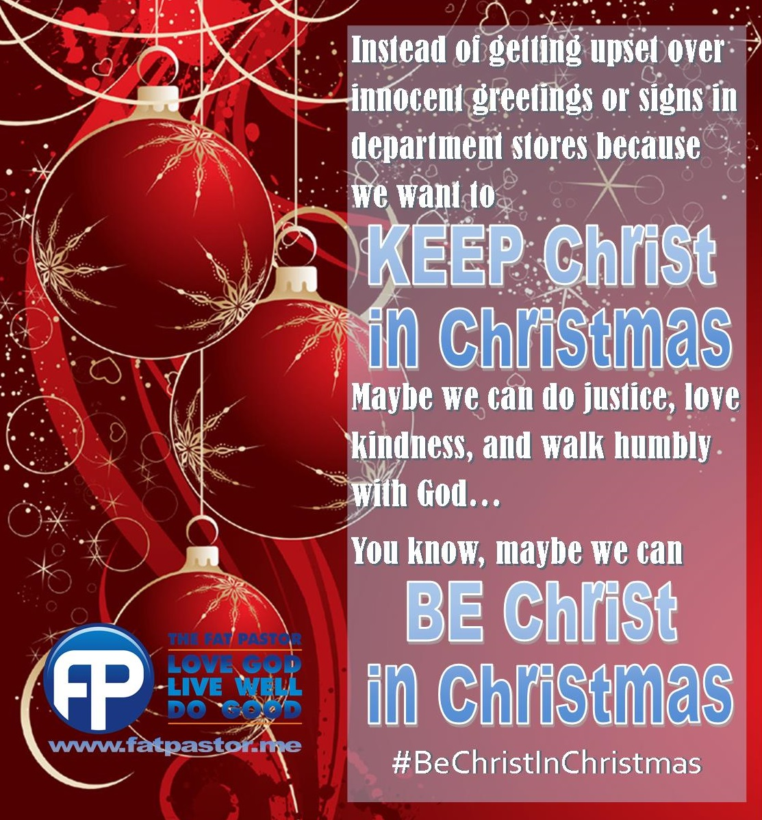 Keep Christ in Christmas | The Fat Pastor