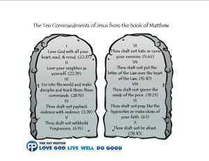 This is not comprehensive.  What are some commandments that you would add?