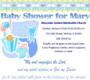 baby shower for mary