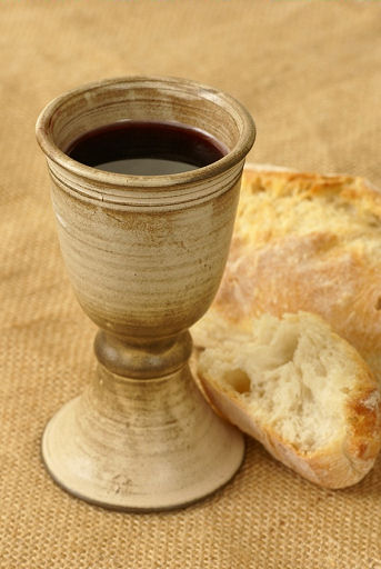 wine and bread
