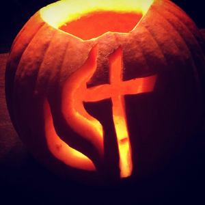 Secret Reason #6 - Strangely warmed pumpkins. I carved this bad boy by hand at youth group.